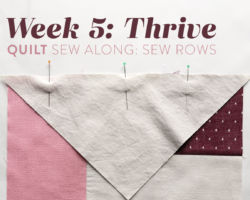 Thrive Quilt Sew Along: Week 5: Sew Rows