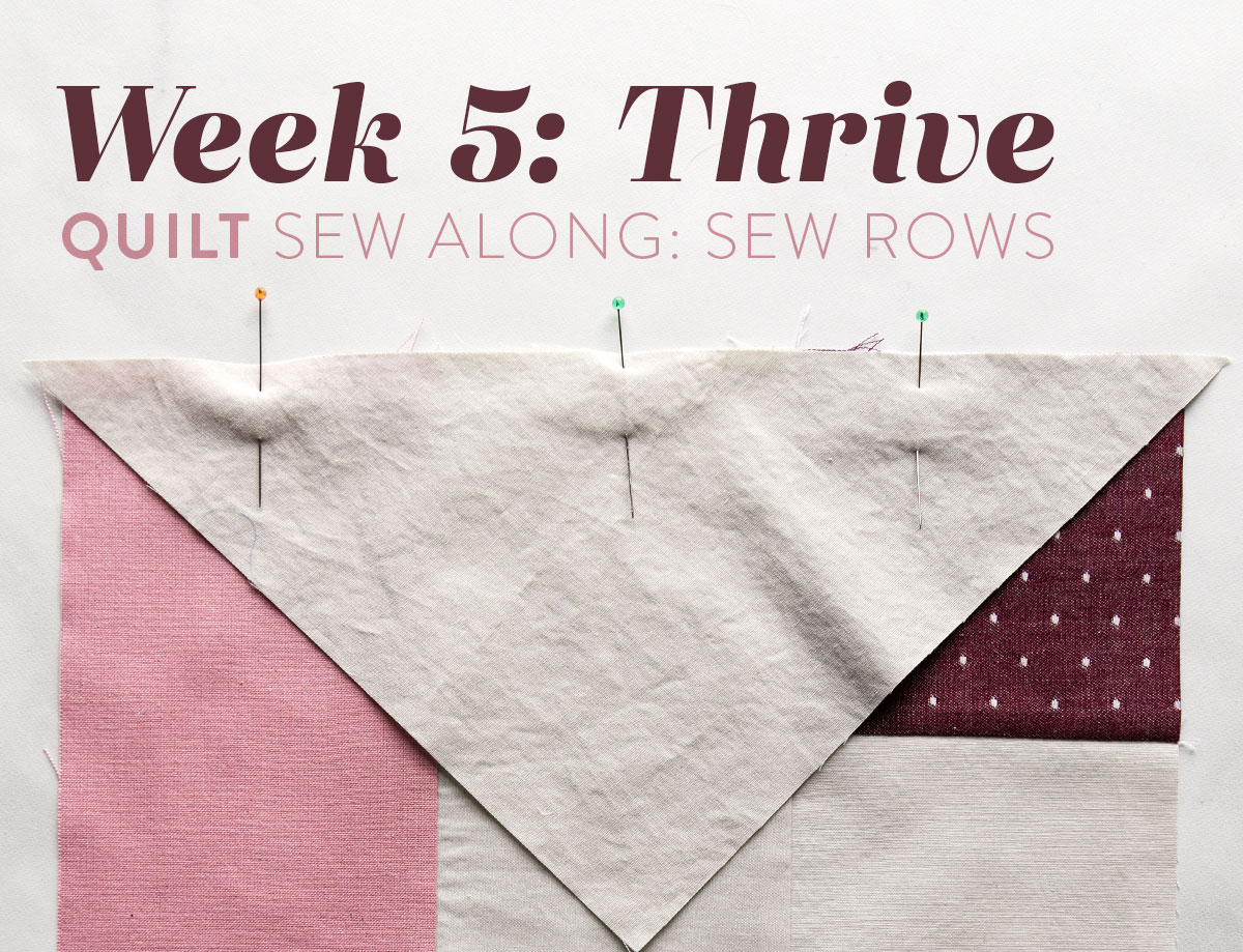 This week in the Thrive sew along we are sewing our blocks into rows. So there's no confusion, I have a video tutorial with directions and tips! suzyquilts.com #quilting #qal
