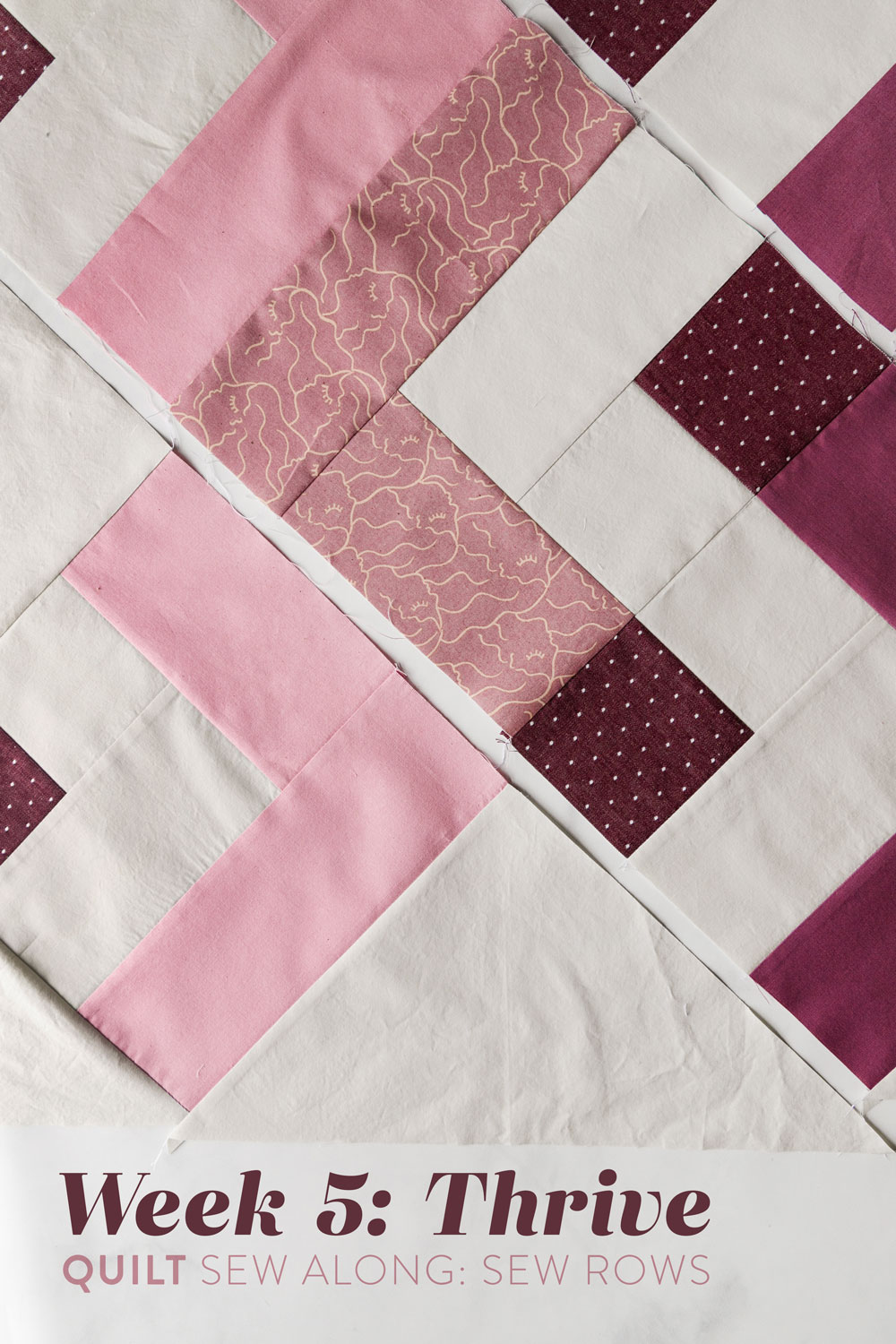 This week in the Thrive sew along we are sewing our blocks into rows. So there's no confusion, I have a video tutorial with directions and tips! suzyquilts.com #quilting #quilt