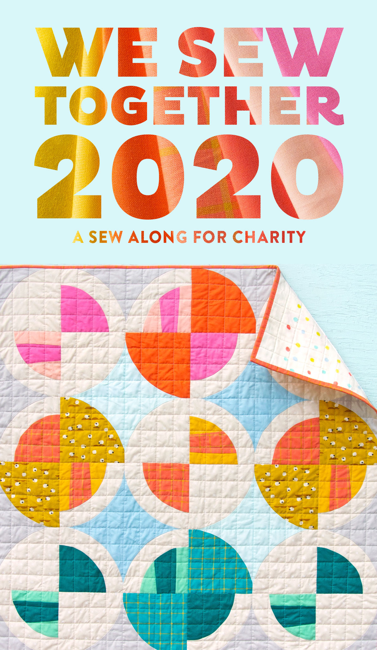 Join with hundreds of sewers, crafter and quilters as we make handmade quilts for charity! This annual sew along, led by Suzy Quilts, offers fabric coupons and prizes as we sew quilts to be donated to charities around the world. suzyquilts.com #quiltalong #sewalong