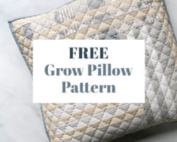 Free Grow Pillow Pattern