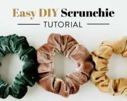 Easy DIY Scrunchie Tutorial