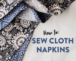 How to Sew Cloth Napkins Tutorial