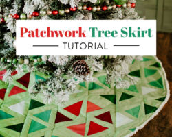 DIY Patchwork Tree Skirt Tutorial