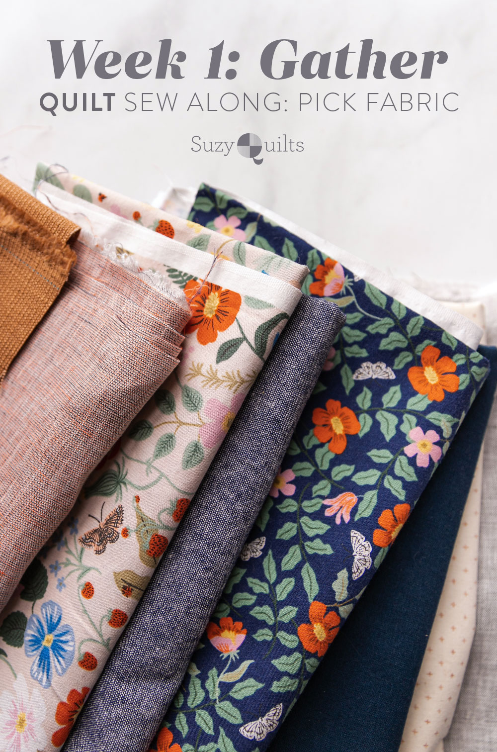 The Gather quilt sew along is an online quilting community experience! Let's make this modern quilt pattern together – one week at a time. suzyquilts.com #quiltalong #quiltpattern