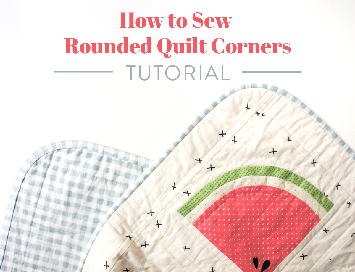 A step by step tutorial including photos and all the tools you need to get perfectly rounded quilt corners. Learn the best tips and tricks for rounding the corners of any quilt project and attaching a smooth binding.