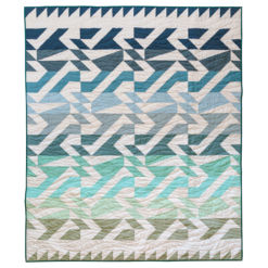 The Voyage quilt pattern is fat quarter friendly and a great quilt pattern for beginners! It includes king, queen, twin, throw and baby quilt sizes plus instructions for a two-color quilt version.