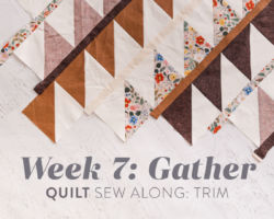 Gather Quilt Sew Along: Week 7: Trim