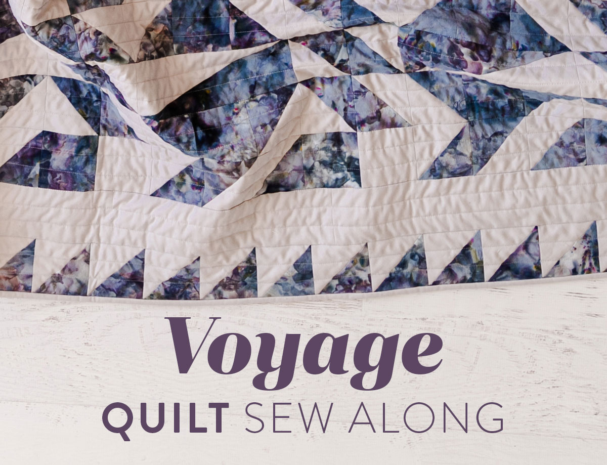 The Voyage quilt pattern is fat quarter friendly and a great quilt pattern for beginners – includes lots of extra video tutorials. suzyquilts.com