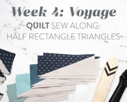 Voyage Quilt Sew Along Week 4: Half Rectangle Triangles