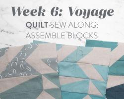 Voyage Quilt Sew Along Week 6: Assemble Blocks