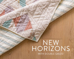 New Horizons Quilt with Double Gauze