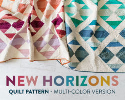 New Horizons Multi-Color Quilt Pattern