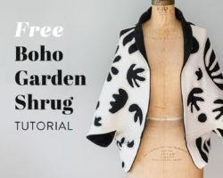 Free Bohemian Garden Shrug Tutorial