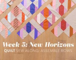 New Horizons Sew Along Week 5: Assemble Rows