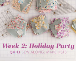 Holiday Party Quilt Sew Along Week 2: Make HSTs