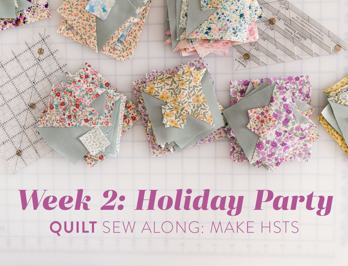 The Holiday Party quilt along includes added tutorials, instruction and quilting tips to sew this fat quarter modern quilt. suzyquilts.com
