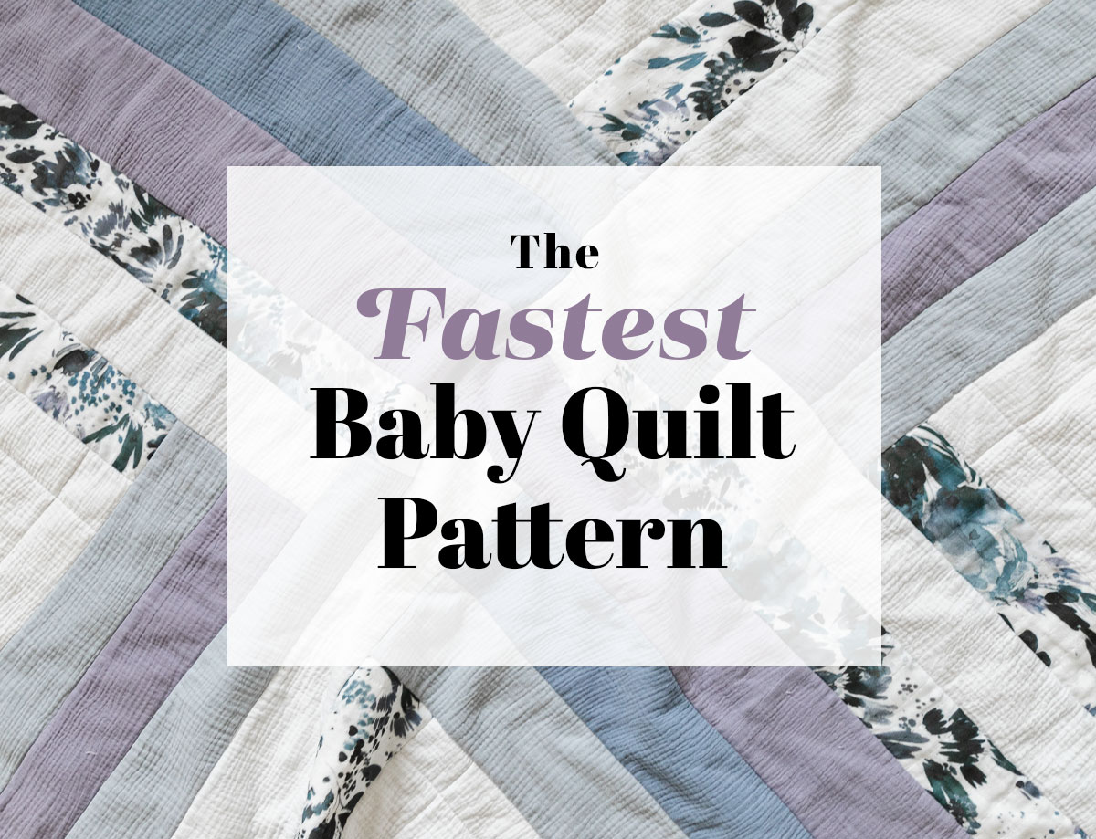 The Maypole design is the fastest baby quilt pattern you can make! It's beginner friendly and made using large strips of fabric. suzyquilts.com #babyquilt #quilting